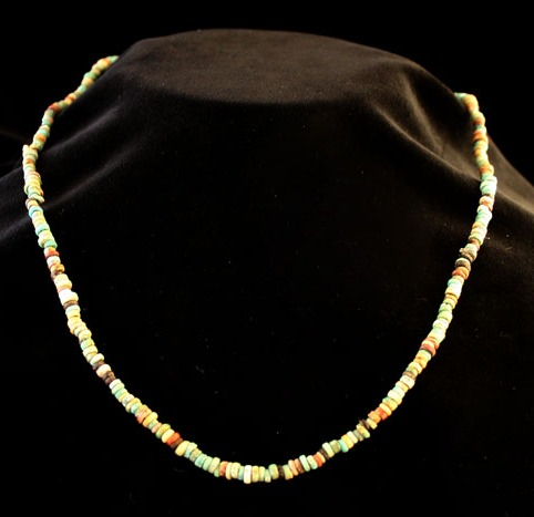 Egyptian New Kingdom Faience Bead Necklace
