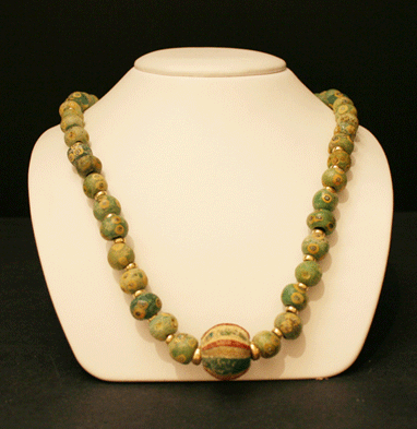 Necklace Consisting of Sand-Core Glass Beads