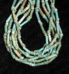 Necklace Of Egyptian New Kingdom Faience Beads