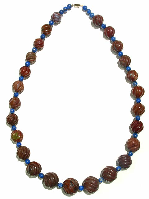 Jasper and Lapis Lazuli Necklace