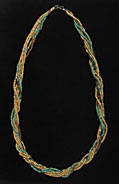Nine Strand Egyptian Faience  Bead Necklace