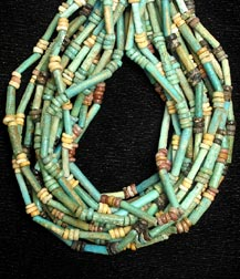 Fourteen Strand Egyptian Faience  Bead Necklace