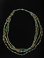Four Strand Egyptian Faience  Bead Necklace