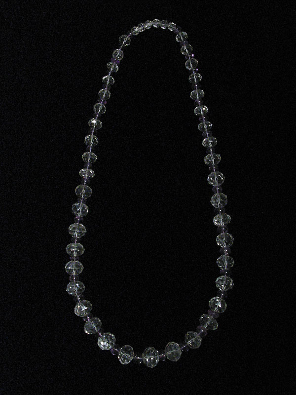 Rock Crystal and Amethyst BeadedNecklace
