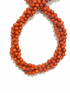 Red Jasper Bead Necklace
