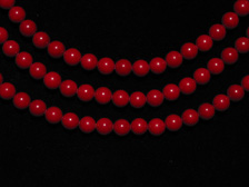 Dyed Chalcedony Bead Necklace