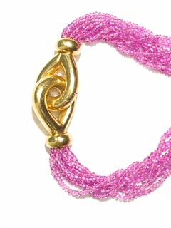 Eigth Strand Ruby Bead Necklace