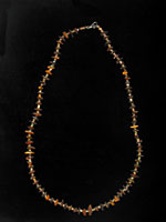 Necklace Composed Of Egyptian Faience Beads Strung With Genuine Amber Beads