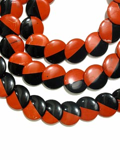 Blended Black Onyx and Red Jasper Bead Necklace