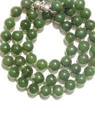 Nephrite Jade Bead Necklace