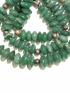 Aventurine And Silver Bead Necklace