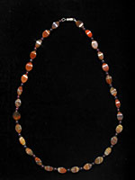 Carnelian Bead and Garnet Bead Necklace