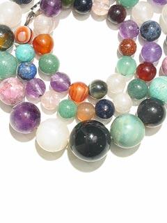Mixed Semi-Precious Gem Bead Necklace