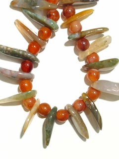 Carnelian Bead, Agate Bead, and Jasper Bead Necklace