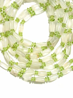 Moonstone And Peridot Bead Necklace
