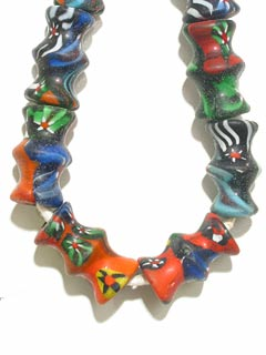 Venetian Style Glass Trade Bead Necklace