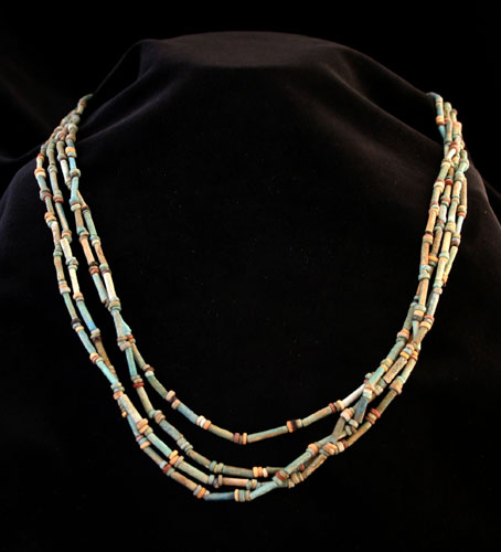 Necklace of Faience Mummy Beads