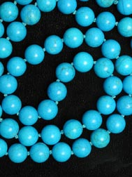 Simulated Turquoise Beaded necklace
