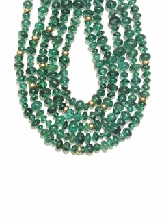 Emerald and Gold Bead Necklace