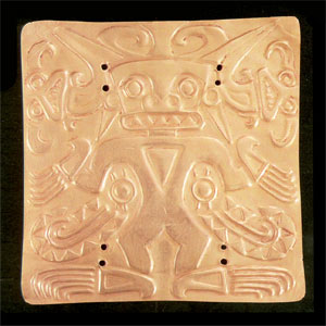 Gold Pectoral Plaque of a Shaman Wearing a Saurian Costume