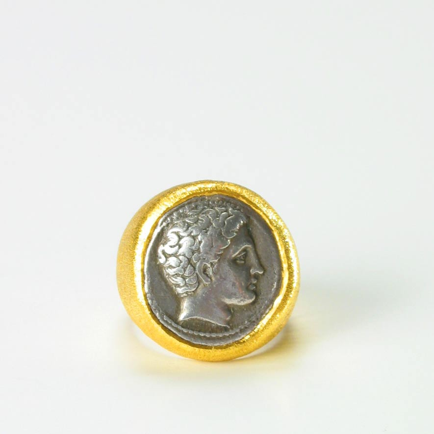 Gold Ring with a Silver Coin of Phalanna