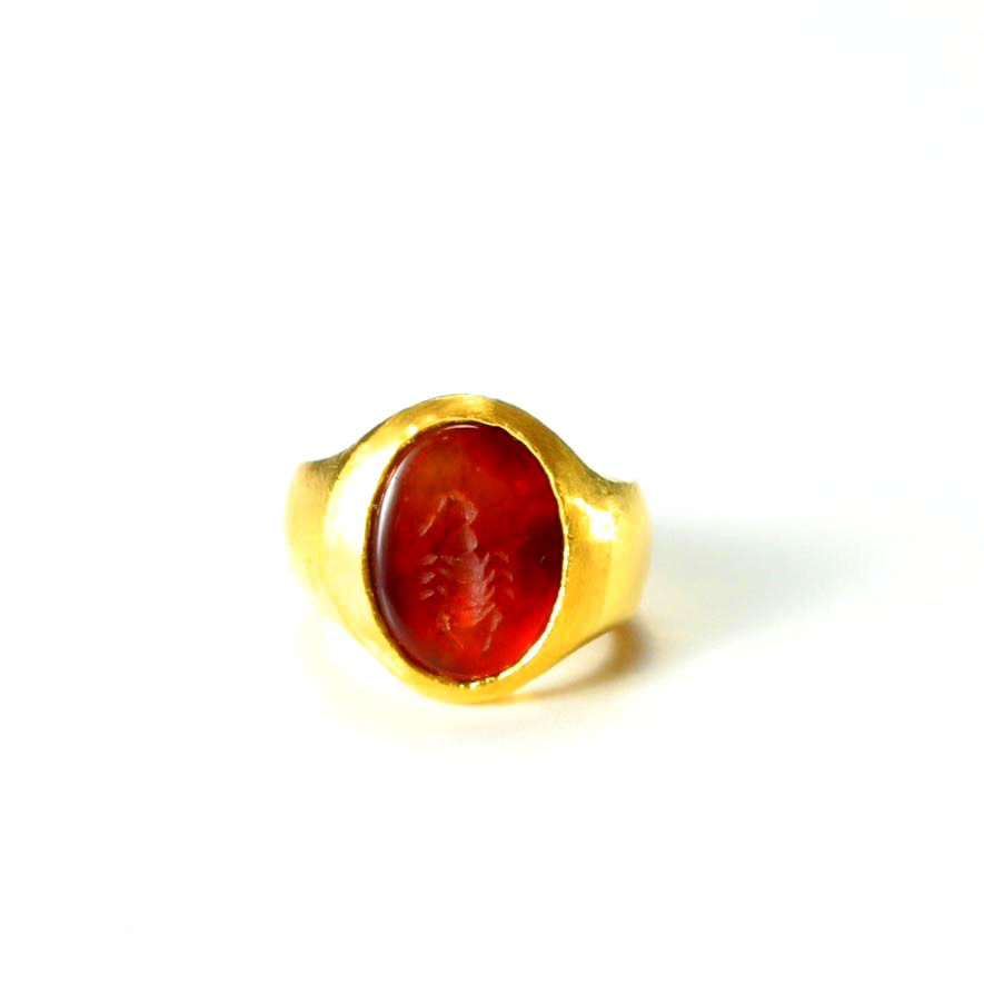 Roman Carnelian Intaglio Depicting a Scorpion