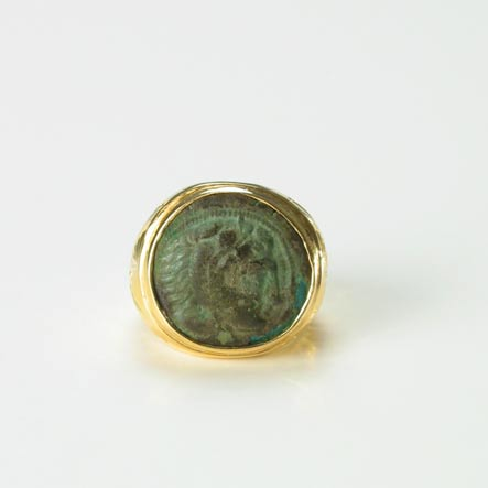 Greek Bronze Coin Ring of King Alexander The Great