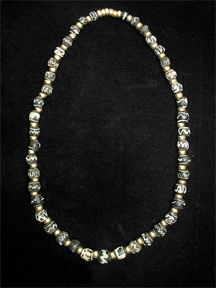 Necklace of Sand-Core Glass Beads