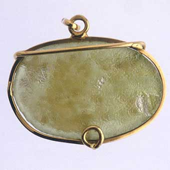 Roman Glass Fragment Set in a Pendant
