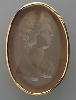 Classical Revival Intaglio depicting a Bust of a Roman Empress