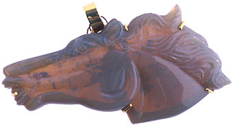 Opal Carved in the Form of a Horse's Head