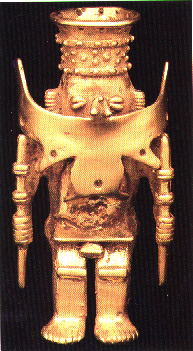 Gold Pendant of a Man in a Ceremonial Costume