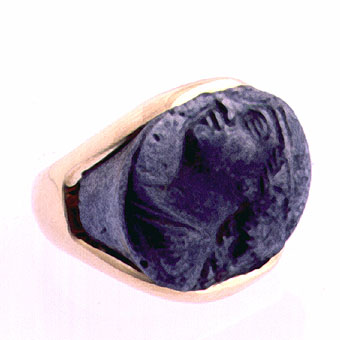 Silver Cameo Ring of A Woman