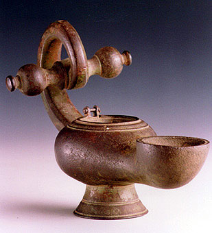Roman Bronze Oil Lamp