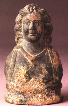 Roman Bronze Bust of a Youth