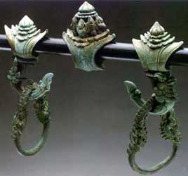 Khmer Bronze Palanquin Hook And  Ring