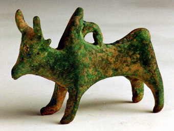 Bronze Sculpture of a Zebu Bull