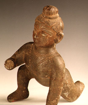 Indian Sculpture of the Infant Krishna as the Butter Thief