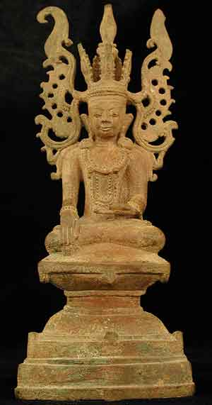 Shan Bronze Sculpture of Buddha as the Subduer of Jambhupati