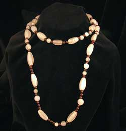 Chalcedony And Garnet Bead Necklace