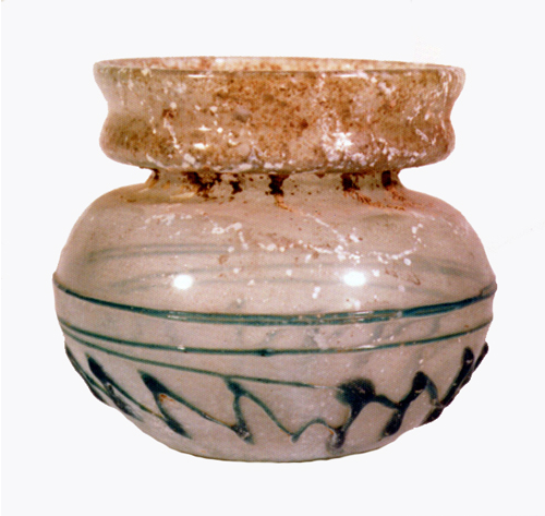 Roman Light Green Glass Jar
