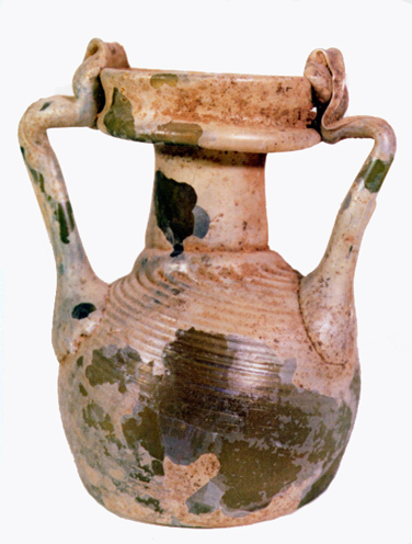 Roman Yellow-Brown Glass Vase