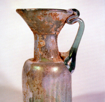Byzantine Light Blue Glass Jug