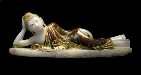 Mandalay Marble Sculpture of a Reclining Buddha