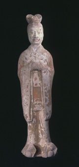 Tang Terracotta Polychrome Civil Official