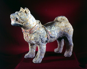 Han Terracotta Sculpture of a Dog