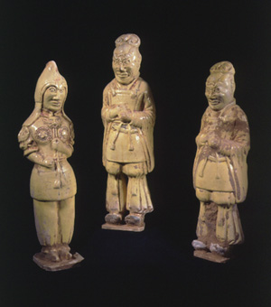 Sui Set of a Military Official and Two Tomb Guardians