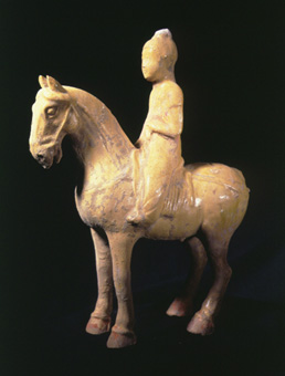 Sui Glazed Figure of a Horse and Rider