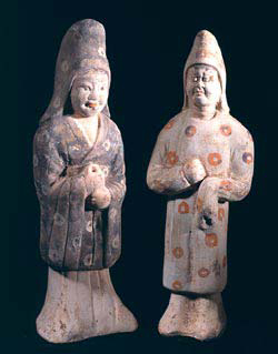 Pair of Tang Figures