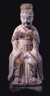 Tang Sculpture of a Seated Lady